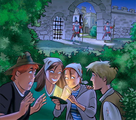 Illustration Abenteuer im Mittelalter