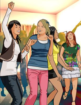 Illustration Jugend-Party 02