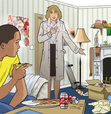 Illustration Familienbeziehung