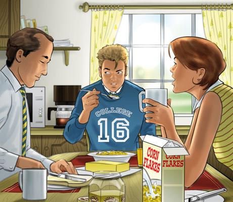 Illustration Frühstück