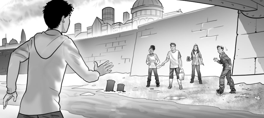 Illustration Abenteuer an der Themse