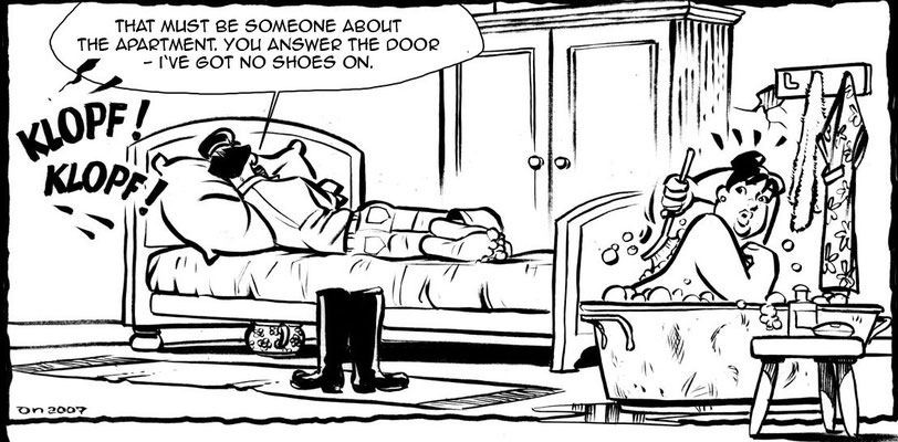 Cartoon aus einer Serie für die Schleswig-Holsteinische Zeitung