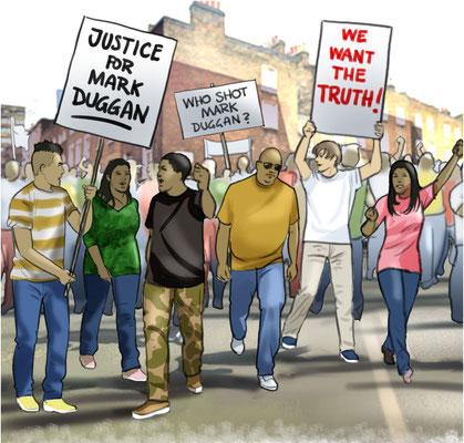 Illustration Protestmarsch