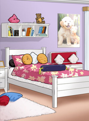 Illustration Kid's room 02