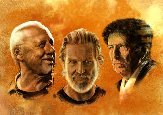 Mark Knopfler, Jeff Bridges, Bob Dylan_Key Visual