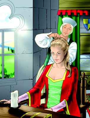 Illustration Lektüre Mittelalter 05