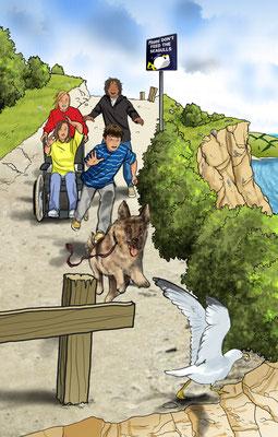 Illustration Cornwall-Abenteuer 01