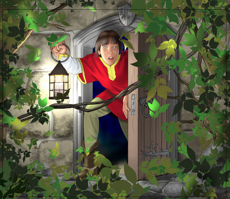 Illustration Lektüre Mittelalter 02