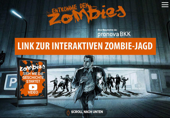Interaktives Zombie-Jagd Video