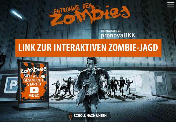 Interaktives Zombie-Jagd Video