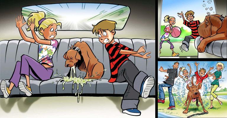 Cartoon Story für Pfizer