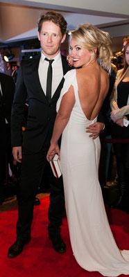 Tapis rouge de l'ADISQ 2013 avec Émily Bégin.
