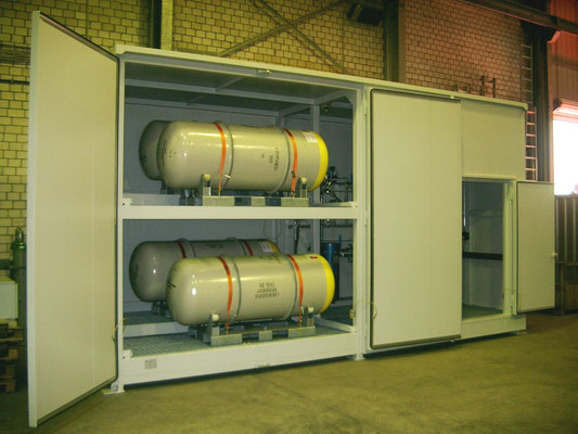 Ammoniaklager (Containerlösung für 4 Fässer)