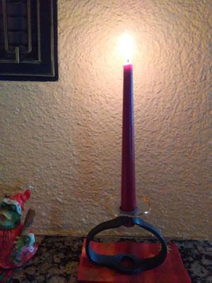 Geschmiedeter Kerzenständer