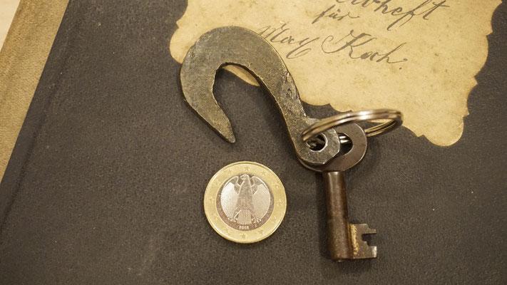 Geschmiedeter Kettenhaken als Schlüsselanhänger