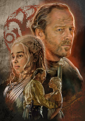 Game Of Thrones - Ser Jorah Mormont & Daenerys Targaryen