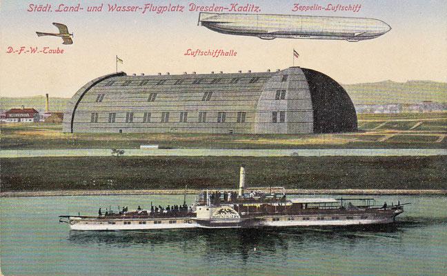 Zeppelinhalle an der Elbe