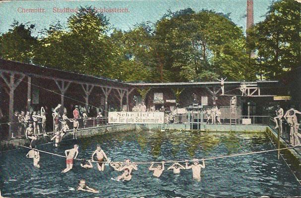 Schwimmbad am Schlossteich 1912