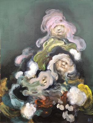 Les inséparables - 116 x 89 cm