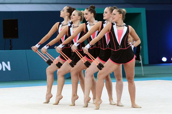 Die Österreichische Nationalgruppe 2014 EM Baku. Foto: Barny Thierolf