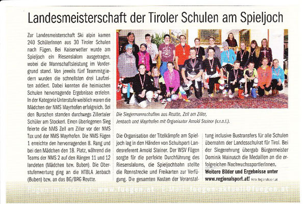 Gemeindezeitung Fügen April 2017