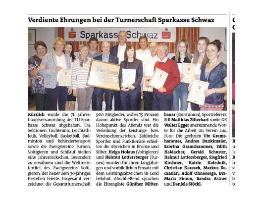 Bezirksblatt Schwaz 19. April 2017