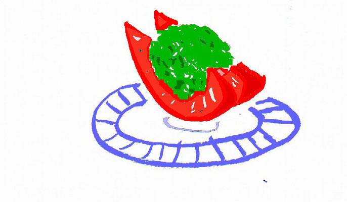 トマトめかぶトッピング