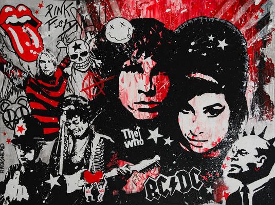 Rock Attitude, peinture acrylique sur toile 60x81 cm