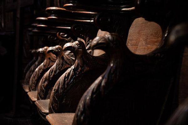 Stalles en bois du XVIIe ©Pierre Champion