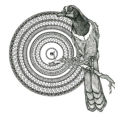インカサンジャクと幾何学模様