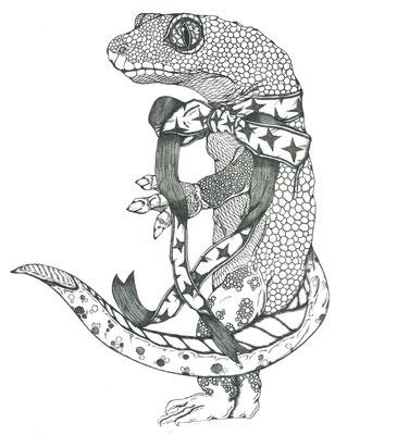 リボン蜥蜴