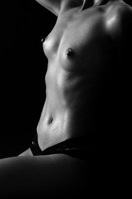 Erotikfotografie, Nude, Schwarzweiß, Körperformen