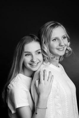 Geschwister, Portrait, Fotostudio