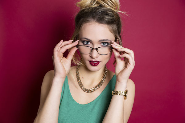 Beauty, Beautyfotografie, Frauenportrait, Brille