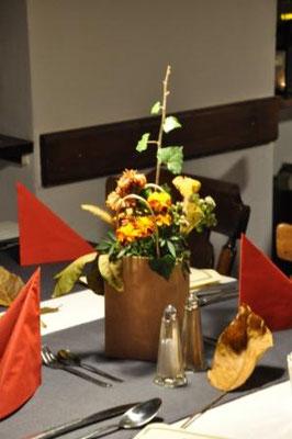 Dekoration Mittelalter-Abend in der Gaststätte GiebelStuben
