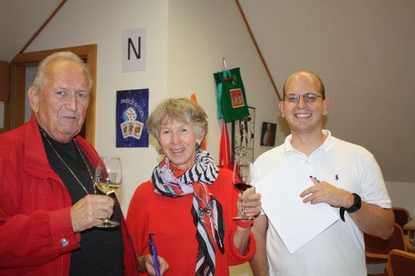 4. Platz für Elfriede Weiss und Prof. Paul Fields