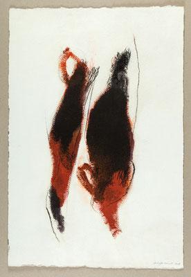 Sans titre / Technique mixte sur papier / 39 x 57