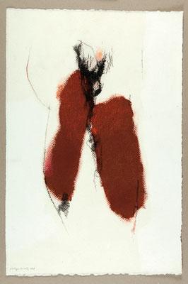 Sans titre / Technique mixte sur papier / 38 x 57
