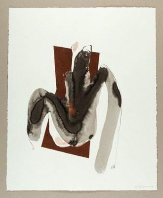 Sans titre / Technique mixte sur papier / 45 x 55