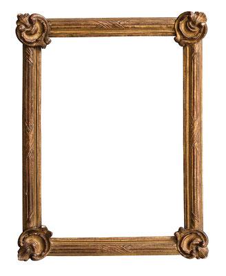 0995  Louis XV Rahmen, Linde geschnitzt und vergoldet, 37,8 x 26,6 x 3,5 cm