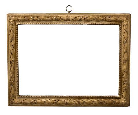 2238  Louis XVI Rahmen, Buche geschnitzt und vergoldet, 29,5 x 36,4 x 4,3 cm