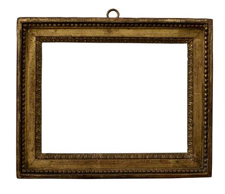 7830  Louis XVI Rahmen, Eiche geschnitzt und vergoldet, 12 x 17 x 2,8 cm