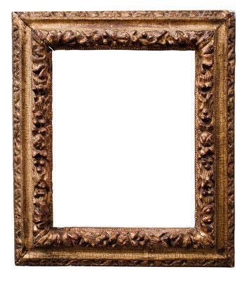 1007  Louis XIII Rahmen, Eiche geschnitzt und vergoldet, 18 x 14,5 x 4,2 cm