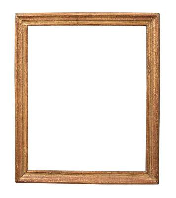 0950  Louis XV Pastel-Rahmen, Eiche geschnitzt und vergoldet, 44,8 x 35,9 x 4,1 cm