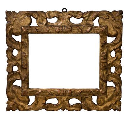 9202  Rahmen, Florenz 17./18.Jh., Pappelholz geschnitzt und vergoldet, 22,8 x 17,6 x 7 cm