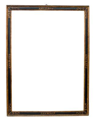 8431  Kassettenrahmen, 16./17.Jh., Weichholz geschwärzt und vergoldet, 134,5 x 96,8 x 6,5 cm
