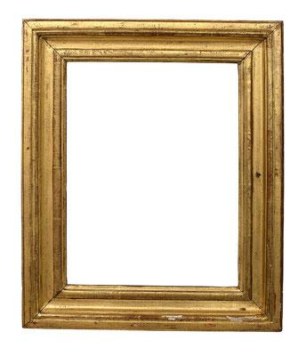 7758  Louis XVI Rahmen, Eiche profiliert und vergoldet, 31,3 x 23 x 5,8 cm