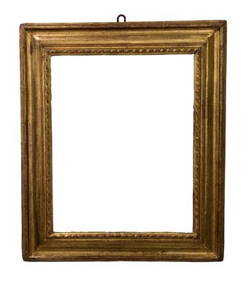 9176  Kassettenrahmen, Piemont 16.Jh., geschnitzt und vergoldet, 63 x 50,2 x 11,3 cm