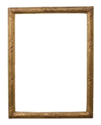 0998  Louis XV Rahmen, geschnitzt und vergoldet, 40 x 28,5 x 2,7 cm