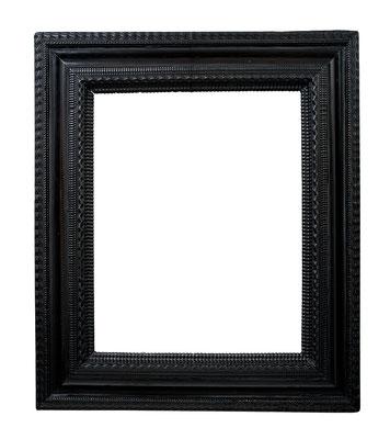 8420  Wellenleisten Rahmen, Niederlande 17.Jh., Obstholz ebonisiert, 50,5 x 41 x 12,5 cm